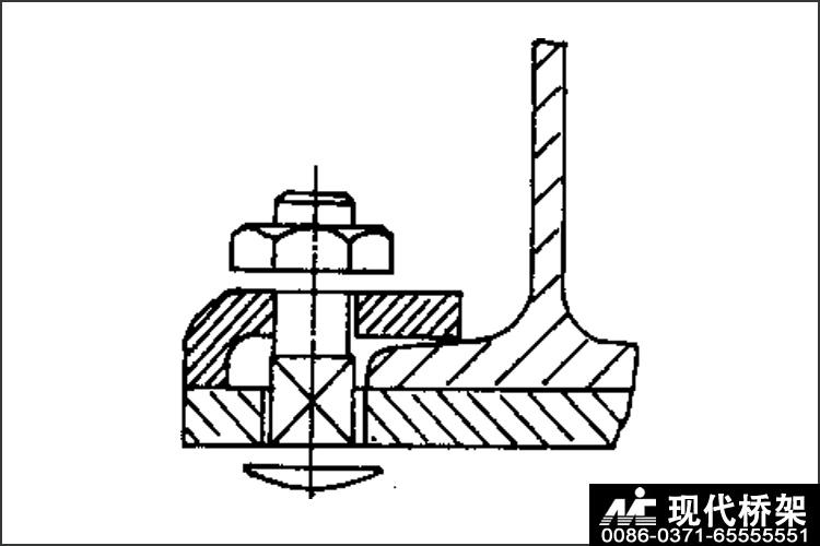 桥架托臂的固定方法之一图
